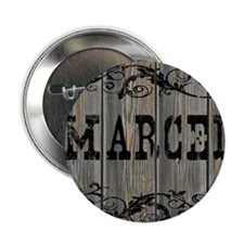 """Marcel, Western Themed 2.25"""" Button"""