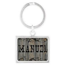 Manuel, Western Themed Landscape Keychain