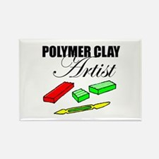 Polymer Clay Artist Rectangle Magnet