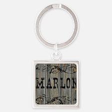 Marlon, Western Themed Square Keychain