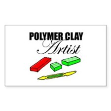 Polymer Clay Artist Rectangle Decal