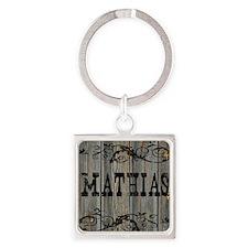 Mathias, Western Themed Square Keychain