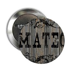 """Mateo, Western Themed 2.25"""" Button"""