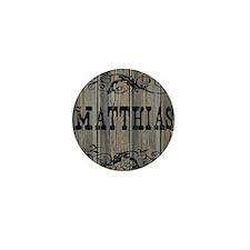 Matthias, Western Themed Mini Button