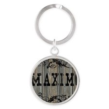 Maximo, Western Themed Round Keychain