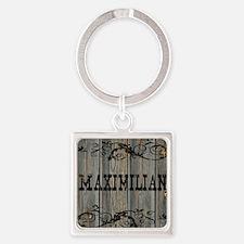 Maximilian, Western Themed Square Keychain