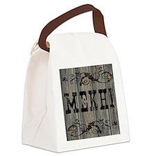 Mekhi, Western Themed Canvas Lunch Bag