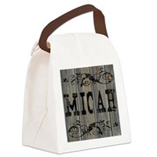 Micah, Western Themed Canvas Lunch Bag
