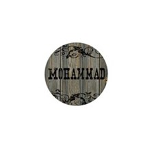 Mohammad, Western Themed Mini Button