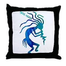 Taos Moon Kokopelli Throw Pillow