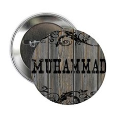 """Muhammad, Western Themed 2.25"""" Button"""
