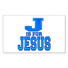J is for Jesus Rectangle Decal