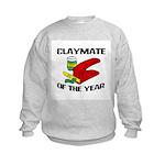 Clay - Claymate of the Year Kids Sweatshirt