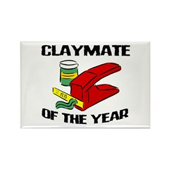 Clay - Claymate of the Year Rectangle Magnet (10 p