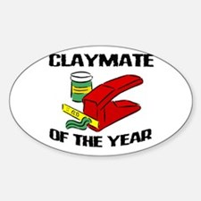 Clay - Claymate of the Year Oval Decal