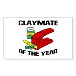 Clay - Claymate of the Year Rectangle Sticker