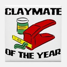 Clay - Claymate of the Year Tile Coaster
