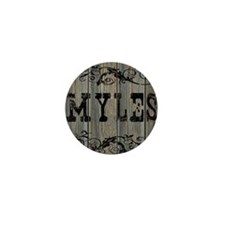 Myles, Western Themed Mini Button