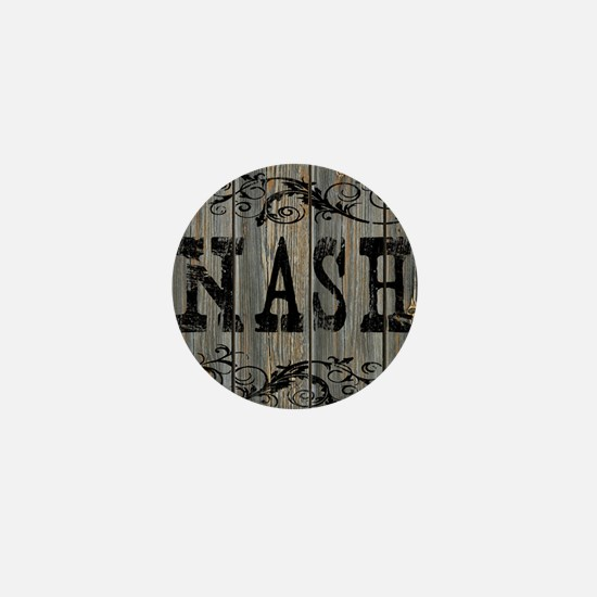 Nash, Western Themed Mini Button