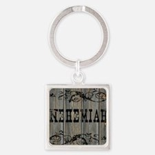Nehemiah, Western Themed Square Keychain