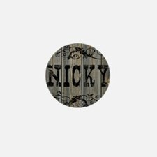 Nicky, Western Themed Mini Button