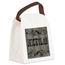Nickolas, Western Themed Canvas Lunch Bag