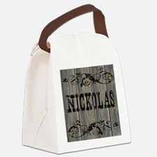 Nickolas, Western Themed Canvas Lunch Bag