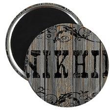 Nikhil, Western Themed Magnet