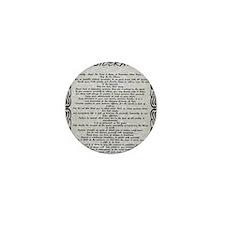 Stone DESIDERATA Tattoo Trim Mini Button