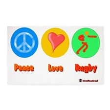 Peace Love Rugby 6000 3'x5' Area Rug