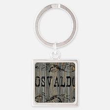 Osvaldo, Western Themed Square Keychain
