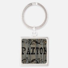 Paxton, Western Themed Square Keychain