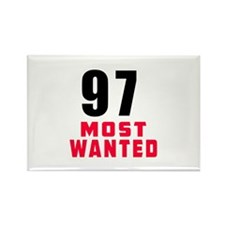 97 most wanted Rectangle Magnet