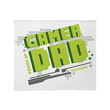 Gamer Dad Throw Blanket