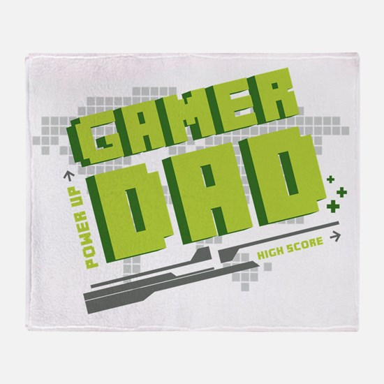 Gamer Dad Throw Blanket