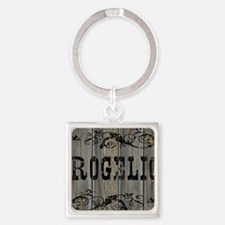 Rogelio, Western Themed Square Keychain