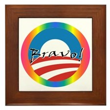 Obama Gay Marriage Framed Tile