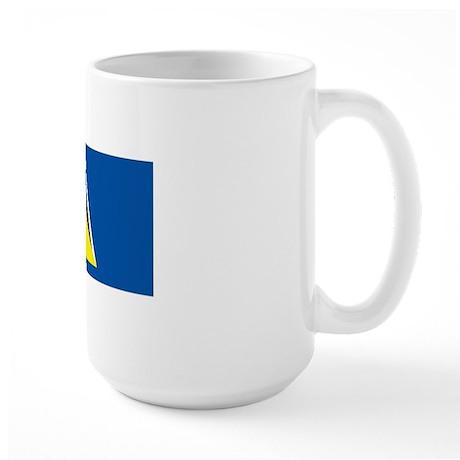 Saint Lucia flag Large Mug