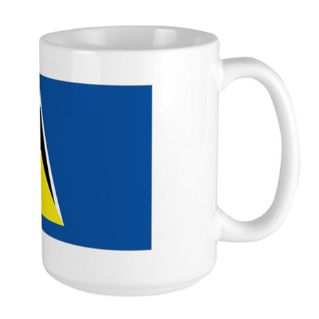 Saint Lucia flag Large Mug