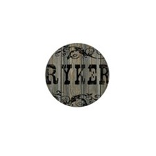 Ryker, Western Themed Mini Button