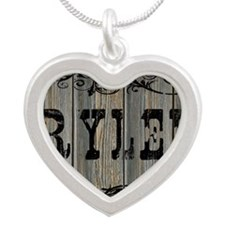 Rylee, Western Themed Silver Heart Necklace