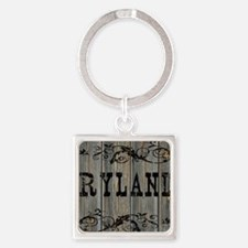 Ryland, Western Themed Square Keychain