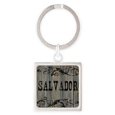 Salvador, Western Themed Square Keychain