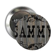 """Sammy, Western Themed 2.25"""" Button"""