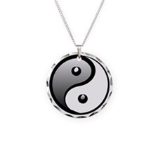 yingyang1 Necklace Circle Charm