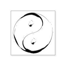 "YingyangBrush Square Sticker 3"" x 3"""