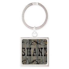 Shane, Western Themed Square Keychain