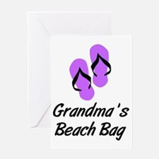 GRANDMAS BEACH BAG Greeting Card