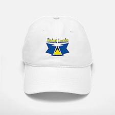 St Lucia Ribbon Baseball Baseball Cap