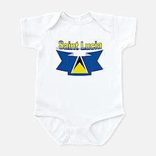 St Lucia Ribbon Infant Bodysuit